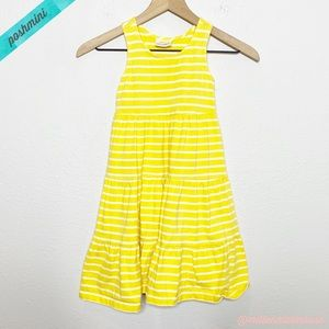 [Hanna Andersson] Yellow White Tiered Tank Dress